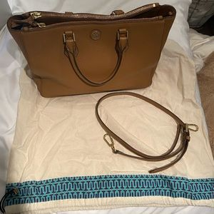 Tory Burch Pebbled Robinson Tote